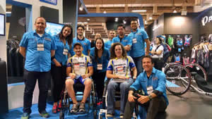 Paratletas do CCSJC participam da Brasil Cycle Fair 2014